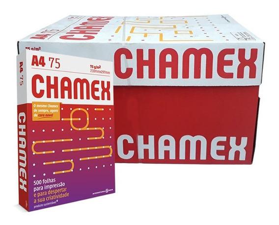 Resultado de imagem para caixa PAPEL CHAMEX OFFICE VERMELHO USO PROFIS A4 CX 10 R