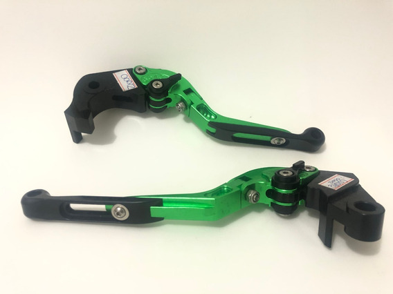 Manete Esportivo Articulado Longo Kawasaki Z1000 Verde/preto