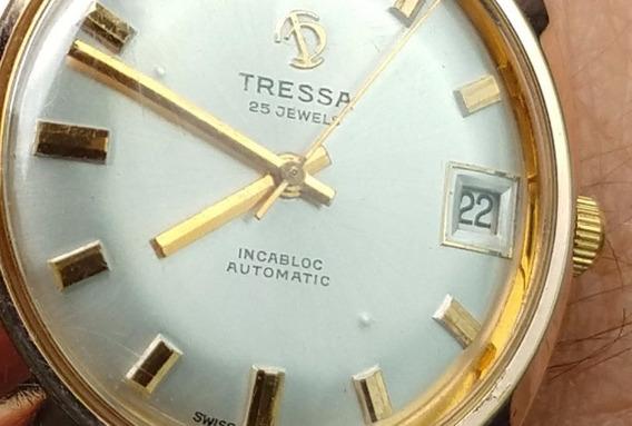 Relogio Tressa 25 Jewels Incabloc Automatic Estado De Novo