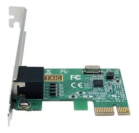 Placa De Rede Pci Ethernet Express Realtek Rj45 Kp-t90 Led