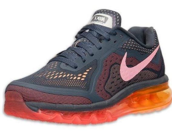 Tênis Nike Air Max 2014 Cinza/rosa/laranja Original