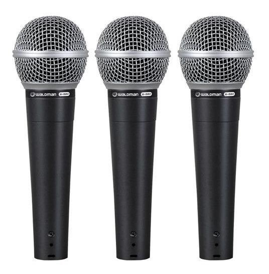 Kit Com 03 Microfone Waldman S-580-3p