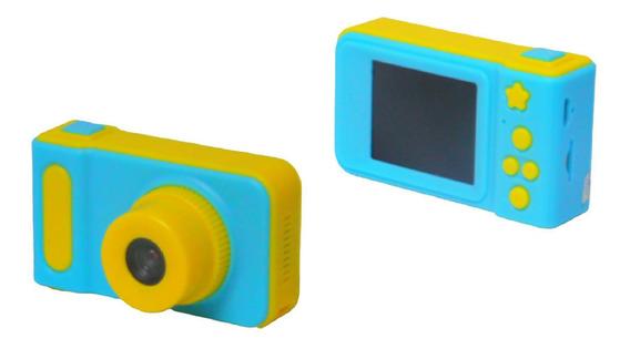 Câmera Fotografica Infantil Digital Kids Selfie 3.0m Azul