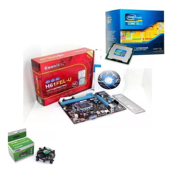 Kit Intel Core I5 3470 3.6 Ghz + Placa H61 + Cooler E Pasta