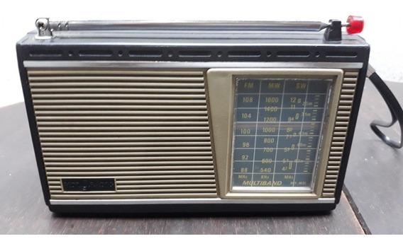 Rádio Portátil Usado Motoradio 3 Faixas Modelo Rpf-m41 Funci