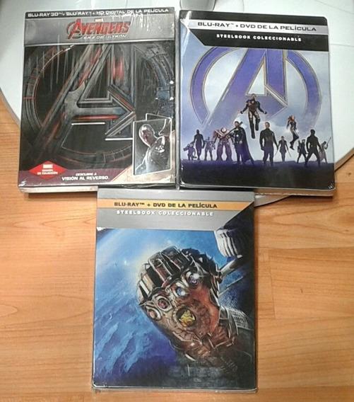 Steelbook Infinity War + Endgame + Age Of Ultron