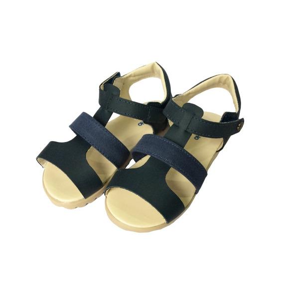 Sandália Azul Velcro Com Sola Tratorada Pimpolho 32752c