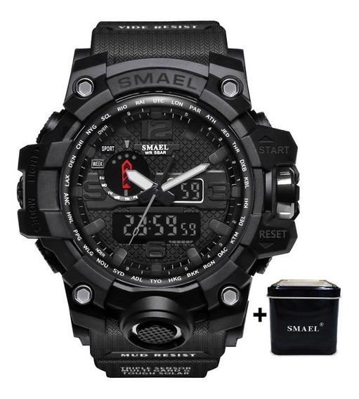 Relógio Masculino Smael® 1545 All Black Original + Caixinha