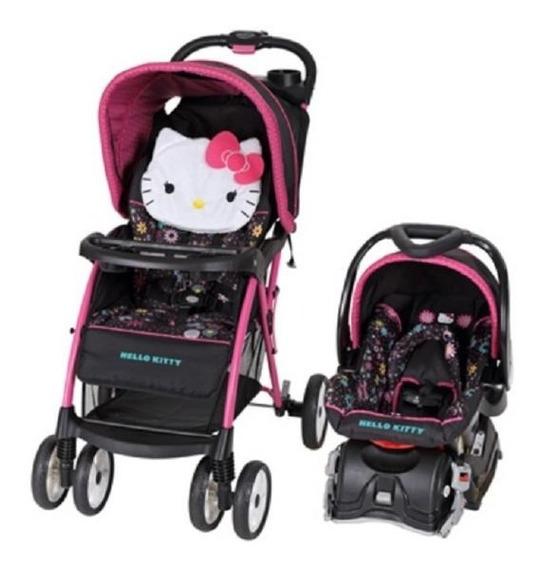 Coche Baby Trend Hello Kitty Con Silla Para Vehiculo Nuevo!!