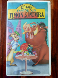Cenando Con Timon Y Pumba - Película Vhs Disney