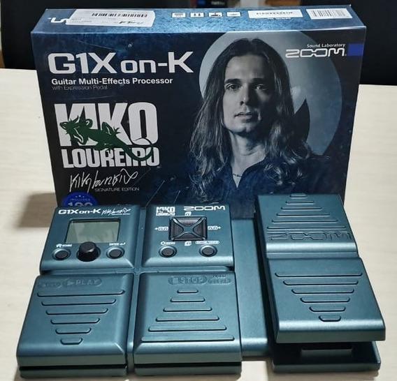 Pedaleira Guitarra Zoom G1x On-k Kiko Loureiro Nova