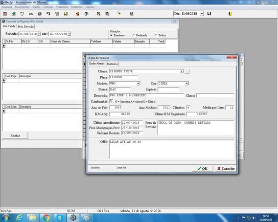 Mecsys 2019 - Sistema Para Controle De Oficinas Mecânicas