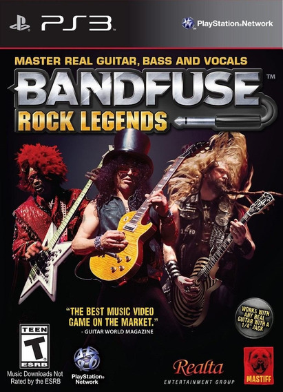 Box Bandfuse Rock Legends Para Playstation 3 Jogo + Cabo