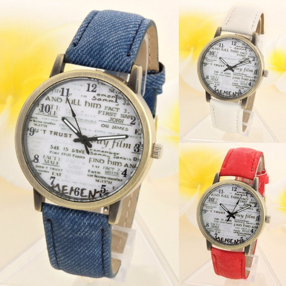 Relógio Unissex De Pulso Elegante