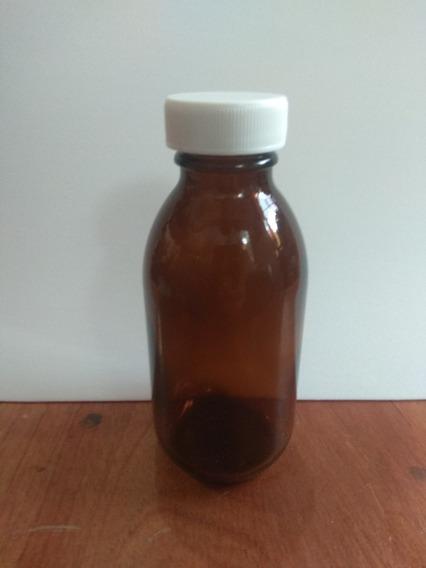 30 Frascos Botella Envase 125ml Vidrio Ámbar + Envio