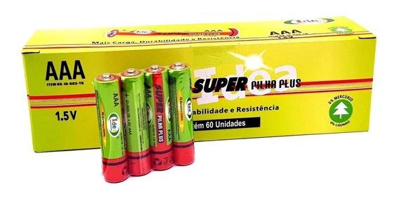 Pilha Aaa Palito 1,5 V Super Plus Idea Caixa Com 60 Unidades Oferta.