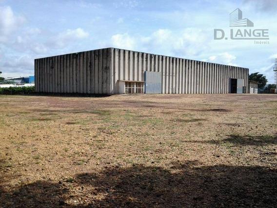 Galpão Comercial Para Locação, Cascata, Paulínia. - Ga0459