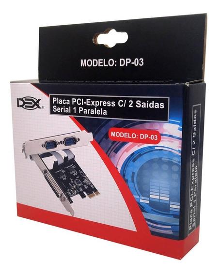 Placa Pci- E 2 Serial E 1 Paralelo Dp-03