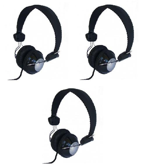 Kit 3 Headfone Com Microfone De Lapela (bom Por Não Quebrar)