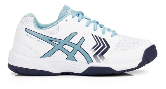 Tênis Asics Gel Dedicate 5 A Branco E Azul