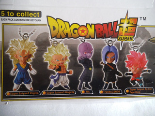 5 Llaveros Dragon Ball Bandai