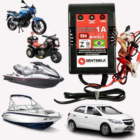 Carregador Bateria Moto Jet Ski 12v 1a Até 60a - Portátil
