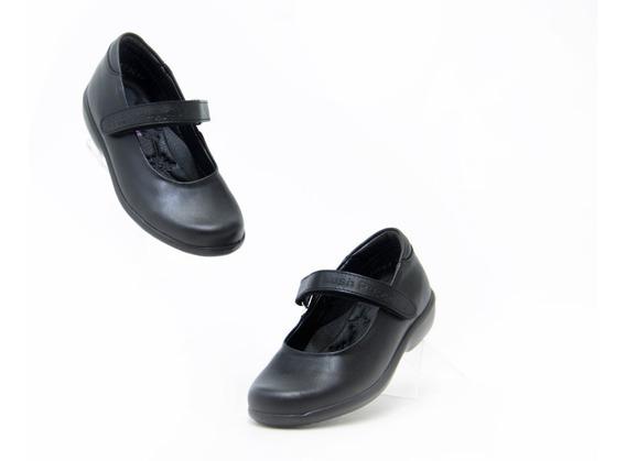 Zapatos Escolar Comodo Bonito Niña Hush Puppies 55003 Negro