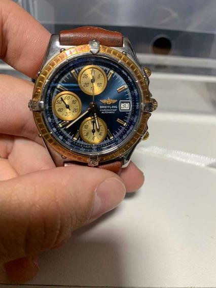 Relógio Breitling 1884 Automatico Original - Ouro E Aço