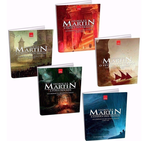 Kit As Crônicas De Gelo E Fogo Game Of Thrones 5 Livros