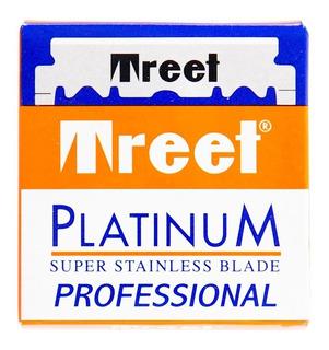Hojas De Afeitar Para Navaja Barbería Treet Platinum X 100