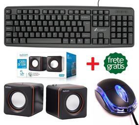 Kit 3 Em 1 Teclado + Mouse Usb + Caixa De Som Gamer Jogos Pc
