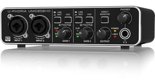 Behringer Umc202hd Interface De Audio 2x2 24-bit 96 Khz Usb
