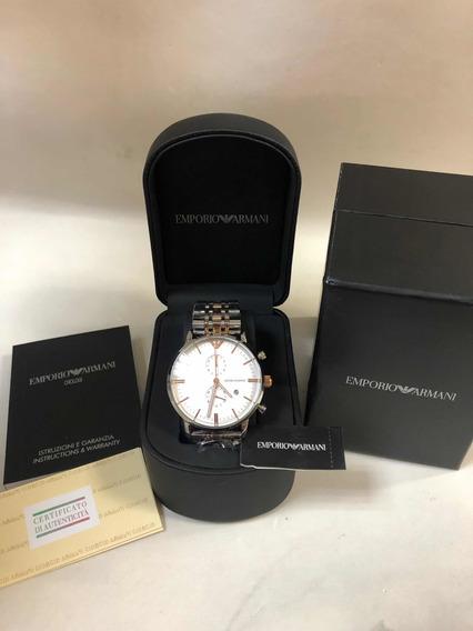 Relógio Emporio Armani Ar0399 Com Caixa E Garantia