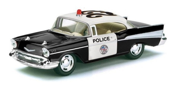 Auto Chevrolet Bel Air 1957 Policia Escala 1:40 Kinsmart