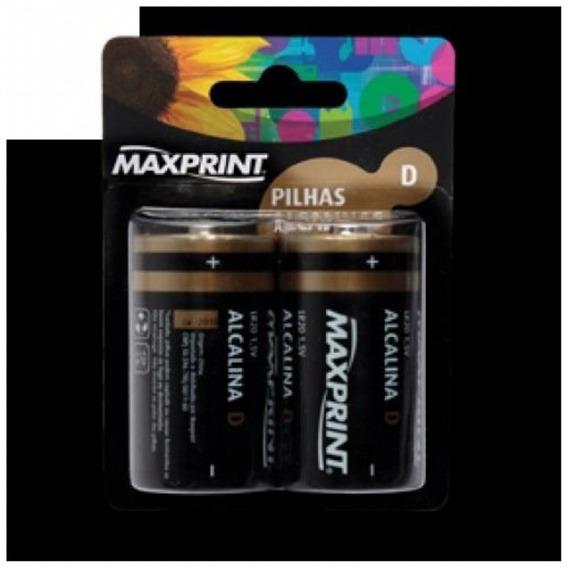 Pilhas Alcalinas D Grande Maxprint Bl Com 02