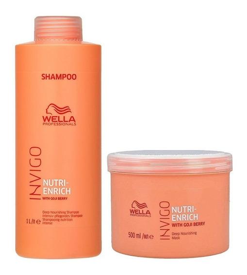 Wella Mascara 500 Ml + Shampoo Litro Enrich Invigo