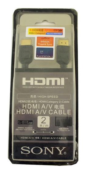 Cabo Hdmi 2m 1080p Conversor Tv Digital Ps4 Monitor A8512