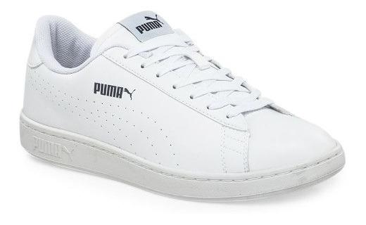 Zapatillas Puma Smash V2 Cuero Blanca Hombre - Puma