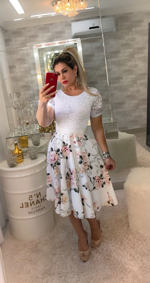 Vestido Casamento Civil Floral Vestidos Femeninos Com O