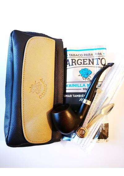 Pipa De Madera En Kit Trío Argento Tabaco Diseños Fumar