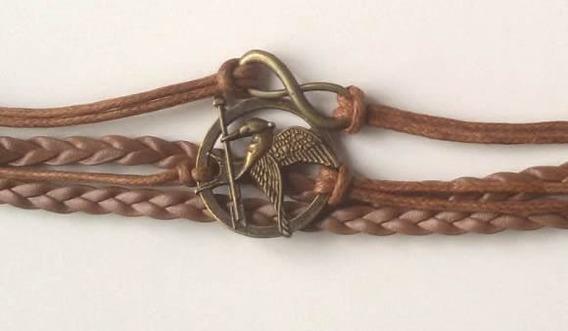 Pulseira Bracelete Jogos Vorazes C/ Simbolo Do Infinito