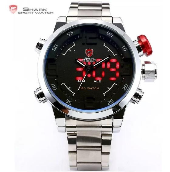 Relógio Shark Militar Digital Original Sh103-108