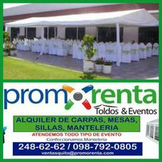 Catering Y Alquiler De Carpas,mesas,sillas,manteleria Etc