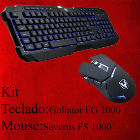 Kit Teclado E Mouse Gamer Falcon
