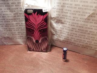 Funda Protector Case Silicona iPhone 6 Plus Zorro Negro