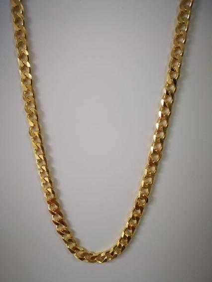 Corrente Masculina Banhada A Ouro 18k Groumet Grossa 60 Cm