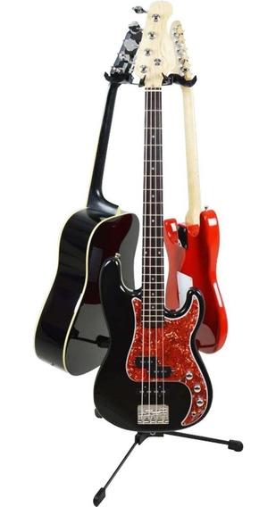 Suporte Ask G30 Para 3 Instrumentos Violão Guitarra Ou Baixo