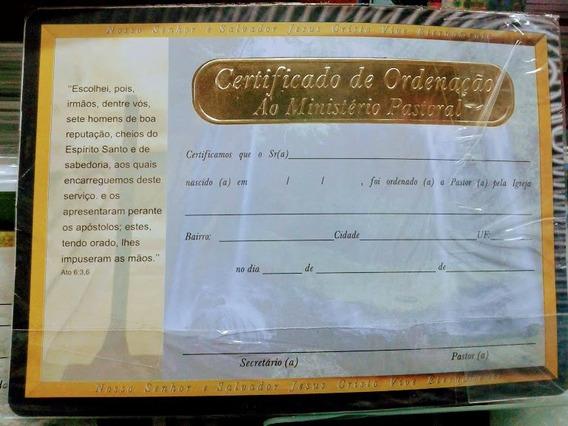 10 Certificados De Pastor Borda Dourada
