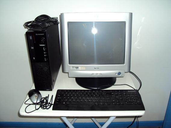 Computador Lenovo Think Centre Edge 72 Core I3 - Monitor Hp