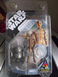 Zzw C3-po R2-d2 Original Exclusivo Moneda Star Wars No Baf